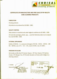 Certificate PIP Health Care