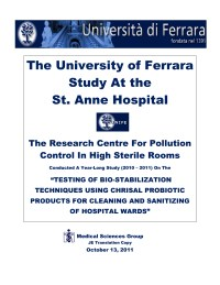 UNIVERSITY OF FERRARA & HOSPITAL STUDY-ENGLISH  SECTION-1